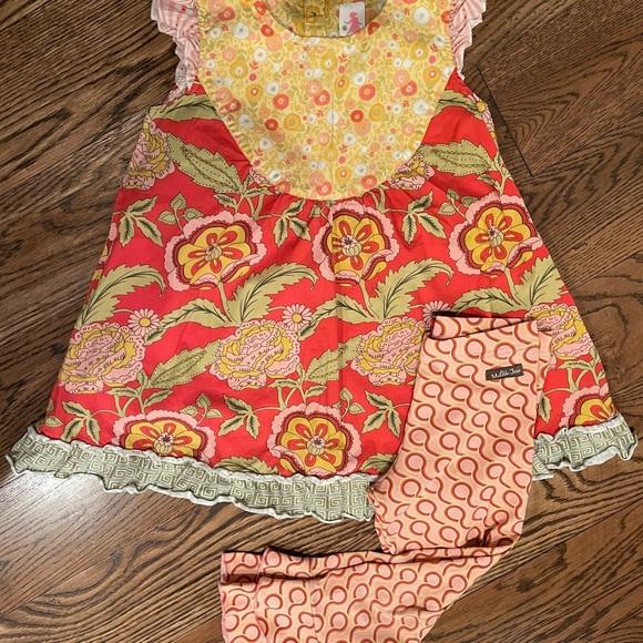 Adorable Matilda Jane Tunic Dress and Ruffle Pants